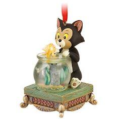 Cleo and Figaro Pinocchio Ornament