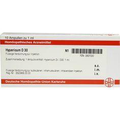 HYPERICUM D 30 Ampullen:   Packungsinhalt: 10X1 ml Ampullen PZN: 02827330 Hersteller: DHU-Arzneimittel GmbH & Co. KG Preis: 10,10 EUR…