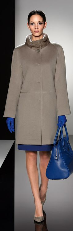 Cinzia Rocca - love the fur trim and blue gloves