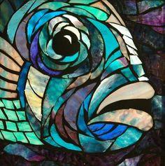 Galerie de mosaïques de verre par Seba - Glass mosaics gallery by Seba Mosaic Crafts, Mosaic Projects, Stained Glass Projects, Stained Glass Patterns, Mosaic Patterns, Stained Glass Art, Mosaic Glass, Animal Original, L'art Du Vitrail
