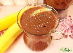 Budincă de Banană și Cacao la Blender (Rețetă Video) | La Taifas Healthy Recipes, Healthy Food, Food And Drink, Pudding, Cacao, Desserts, Diet, Banana, Fine Dining