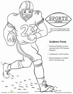 football player coloring page football stuff football coloring pages kindergarten coloring. Black Bedroom Furniture Sets. Home Design Ideas