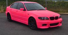 Hot pink bmw e46 m3 plastidip dip