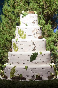 Wedding Cake -- Montana Outdoor Wedding on SMP Photography: Janie Osborne Woodland Wedding, Diy Wedding, Rustic Wedding, Wedding Cakes, Wedding Photos, Dream Wedding, Wedding Ideas, Wedding White, Gorgeous Cakes