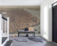 Behang met plattegrond - Rebel Walls #interieur