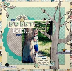 Scrabook layout by DT @Heather Landry