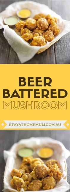 Theyre mushrooms like youve never eaten them before and are sure to be a regular appetiser at parties and gatherings in the future for mushroom lovers and those on the fence. Battered Mushrooms, Fried Mushrooms, Stuffed Mushrooms, Beer Battered Mushroom Recipe, Beer Recipes, Vegetable Recipes, Cooking Recipes, Recipies, Vegetable Drinks