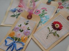 I put together this selection of 8 vintage embroidery gift tags because several customers have requested more of them after receiving a few in the all