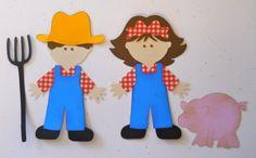 Farmer Boy and Farmer Girl Die Cut Set by ckcustomscrapbooks, $5.75