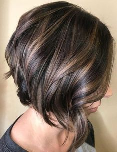 Stylish Angled Bob with Polished Waves Haircuts 2018