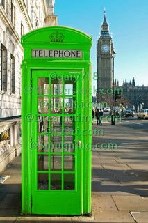 A green telephone booth by gary718, via Flickr