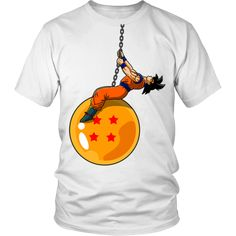 Dragonball Z Funny Goku Wrecking Ball Parody T-Shirt - OtakuForest.com