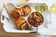 Find the recipe for Corn Fritters with Spicy Zucchini Salsa and other corn recipes at Epicurious.com