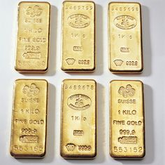 Gold ingots for sale under the gold price.
