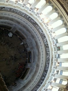 Washington DC - view looking down from the top of the dome in the Capitol Building