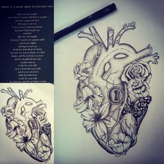 Friday sketching. #heart  #thesmiths #art #sketching #flowers #butterfly #tattoo