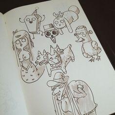 inktober doodle  halloween