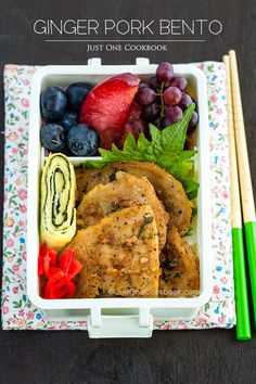 Delicious Shogayaki (Ginger Pork) Bento...would love this for my lunch tomorrow!!!! @JustOneCookbook (Nami)