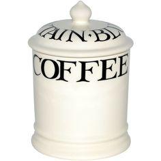 Emma Bridgewater Black toast 1pt coffee storage jar ($48) ❤ liked on Polyvore