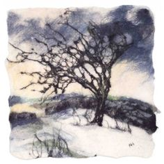 Felted wall art from World Of Wool - Featured Artist November 2010 - Andrea Hunter Felt Wall Hanging, Felt Tree, Felt Pictures, Wet Felting, Needle Felting, Tinta China, Textile Fiber Art, Wool Art, Landscape Quilts