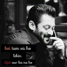 Hug Quotes, Song Lyric Quotes, Life Quotes, Salman Khan Quotes, Motivational Videos For Success, Salman Khan Wallpapers, Attitude Quotes For Boys, Girl Attitude, Salman Khan Photo