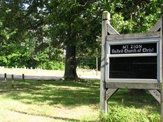 Mount Zion Church Cemetery  Vance County  North Carolina  USA