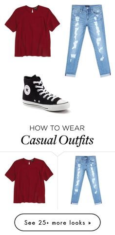 """Casual"" by emmazeigler on Polyvore featuring Topshop, Bebe and Converse"