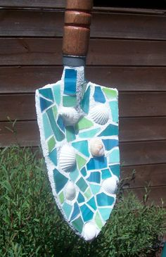 Mosaic Garden Art Decorative Trowel Shovel by PerennialPlates