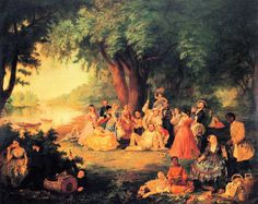 Lily Martin Spencer - The Artist and Her Family on a Fourth of July Picnic