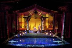 The King and I. Walnut Street Theatre. Scenic design by Robert Kovach. Lighting by Paul A. Black.