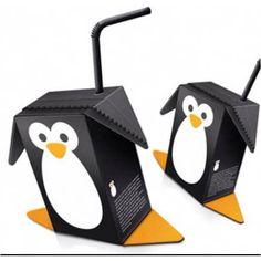 Packaging: Juice box penguins