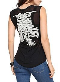 HOTTOPIC.COM - Spine Lace Mesh Top