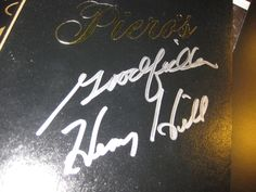 HENRY HILL GOODFELLA'S SIGNED MENU FROM PIERO'S still open oldest mob JOINT VEGA
