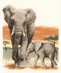 Elephant's Journey Cross Stitch Kit | sewandso