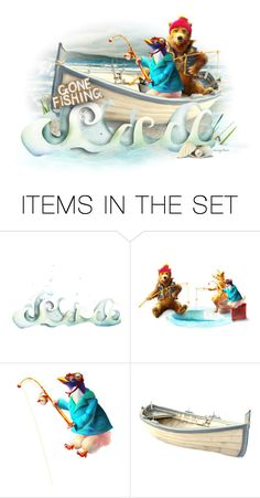 """Gone Fishing"" by necyluv ❤ liked on Polyvore featuring art"