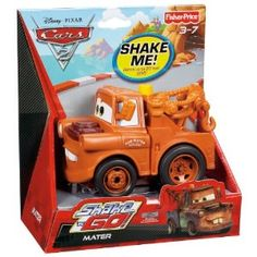 Got it! CHECK!...Ethan: Fisher-Price Shake 'n Go! Mater