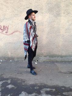 #streetstyle #men #wear #poncho