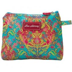 Lou Harvey small cosmetic bag vinyl-covered in Indian Summer design, great for #summer #beachbags #waterproof
