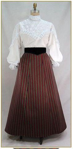 Stripe Victorian Skirt