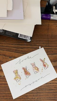 diy birthday cards for kids Diy Birthday, Birthday Cards, Karten Diy, Watercolor Cards, Kids Cards, Cards Diy, Easter Crafts, Diy Easter Cards, Happy Easter