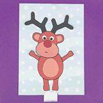 Dancing Reindeer Card #Holiday #Party #Ideas #DIY #Printable #cards