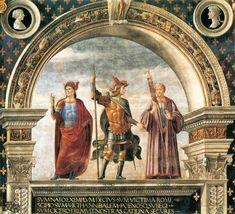 Domenico Ghirlandaio (Italian, 1449-1494) ~ Decoration of the Sala del Gigli (Detail) ~ 1482-1484 ~ Palazzo Vecchio, Florence