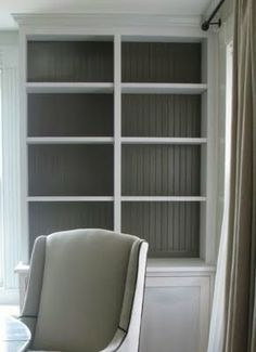 An Urban Cottage: Bookcase Preview  Benjamin Moore Fairview Taupe Grey