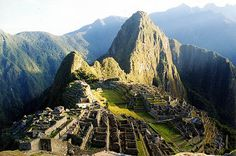 Machu Picchu! I've been wanting to go here for years! And, hopefully one day really, really soon, I'll stop procrastinating and just do it!