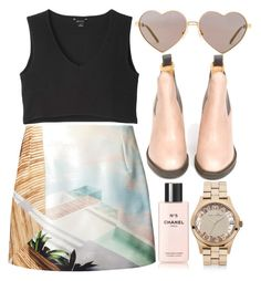 """""""Pale"""" by sweetnovember19 ❤ liked on Polyvore featuring Monki, Wildfox, Mary Katrantzou, Acne Studios, Chanel and Marc by Marc Jacobs"""