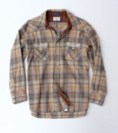 Vintage Pendleton Flannel Shirt Western Flannel by ICaughtTheSun