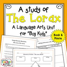 """The Lorax"""" by Dr. Seuss: Free Student Worksheet: Science Literacy ..."""