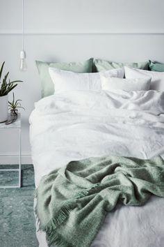 Постельное белье, стираный лен - Белый - HOME | H&M RU 1