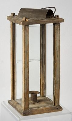 early wood lantern.my Dadused to make these,I have 2 of them.                   ****