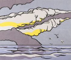 Roy Lichtenstein Gullscape 68 X 80 in (172.72 X 203.2 cm) Oil and acrylic on canvas 1964